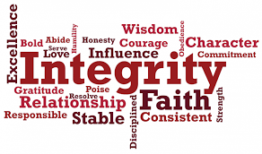 Integrity word collage