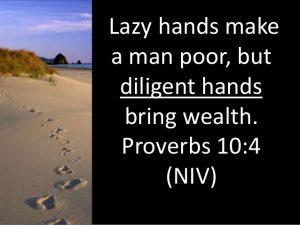 footsteps in sand Diligent Hands bring wealth