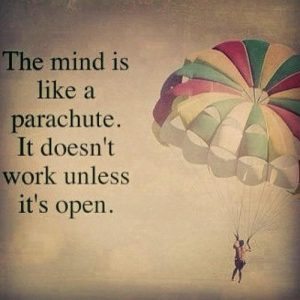 Parachute Mind works when open